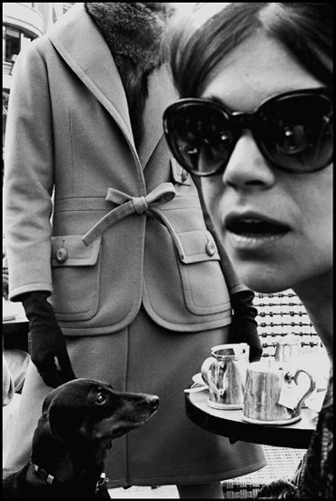 Fashion for Harpers BazaarFrench High Fashion at Cafe de Flore, 1962, Paris