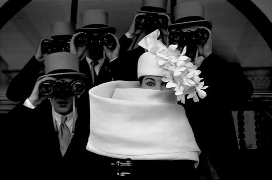 Paris, 1958 – Givenchy Hat at Longchamp horse track