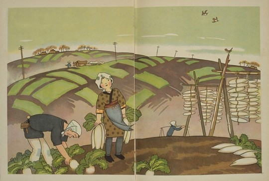 illustrated by Honda Shotaro,Radishes, 1928