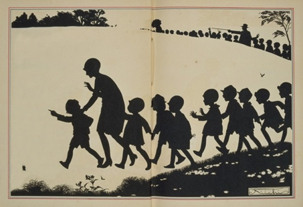 illustrated by Okamoto Kiichi,Excursion, 1928