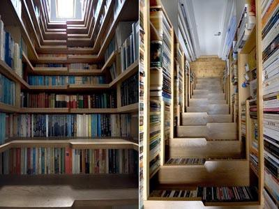 Книжкові полиці-сходи (фото з сайту http://www.peoples.ru/friday/30_most_unusual_ladders_of_all_times.html)